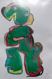 Figura feminina com duas pessoas